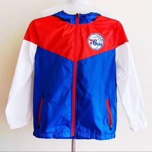 🆕 Philadelphia 76ers Sixers Windbreaker Jacket